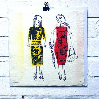 2 Girls (Yellow and Red)