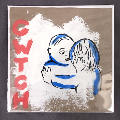 Cwtch (Vertical Red and Blue)