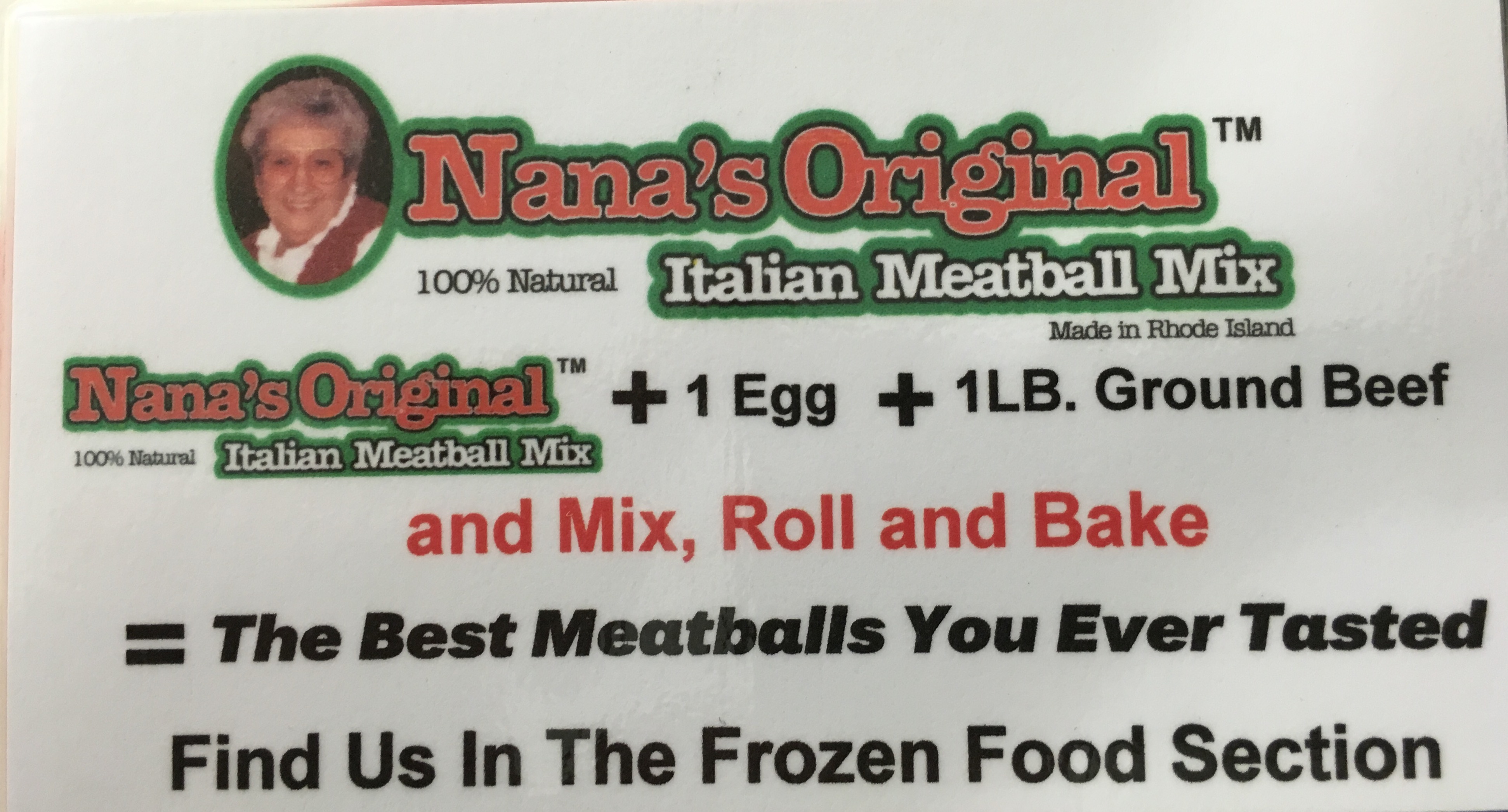 Nana's Original Italian Meatball Mix