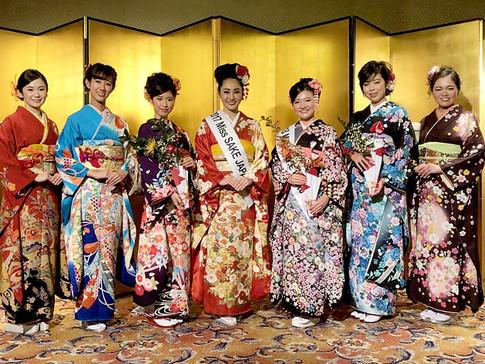 YUMEYATAKA KIMONO Appeared on 2018 Miss Sake Kyoto Final
