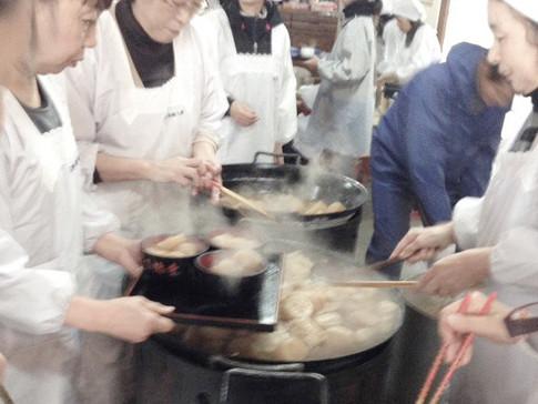 DAIKON-DAKI (Offering of Cooked Japanese Radish) in Ryotokuji Temple