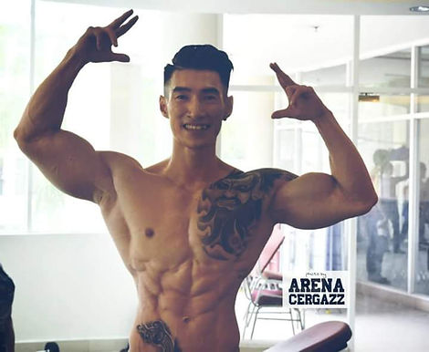 Brandon Law UNIFIT GYM master trainer men physique malaysia internationa