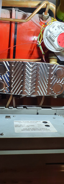 New plate heat exchanger fitted
