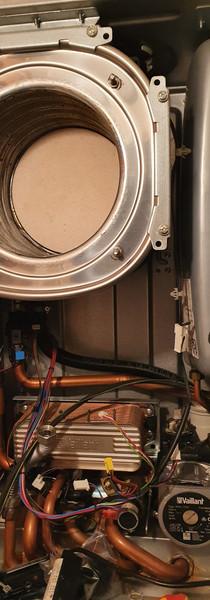 Full boiler maintenance in process