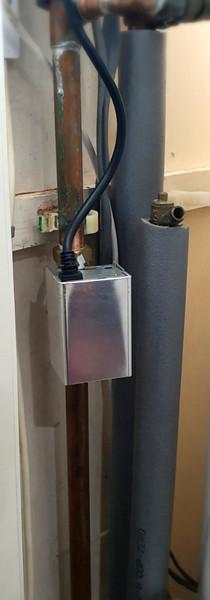 New zone valve installed