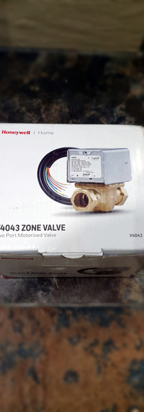 New zone valve ready for an install