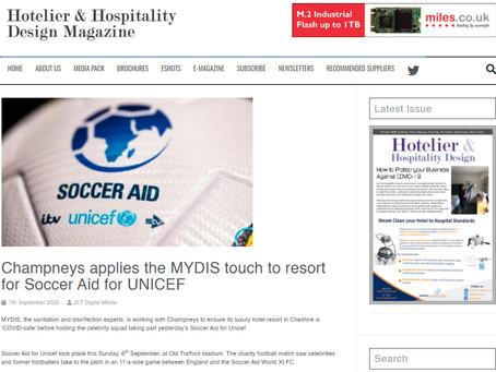 In The Press: Champneys X SoccerAid
