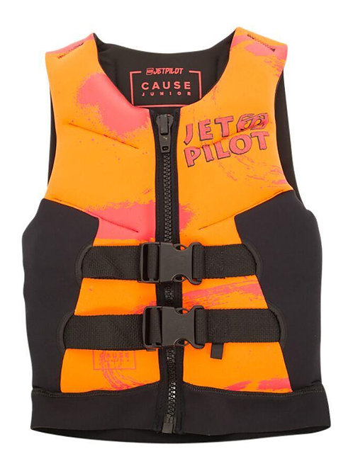 JETPILOT YOUTH THE CAUSE F/E KIDS NEO VEST ORANGE LEVEL 50