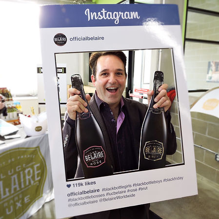 dean rose owner of broadway liquor outlet with belaire cutout