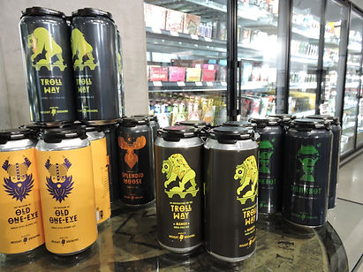 local craft beer in beer section
