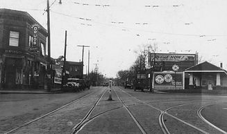 historical photo of braodway ave and penn ave in minneapolis minnesota