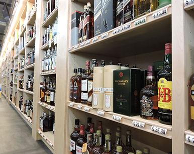liquor bottles in minneapolis store