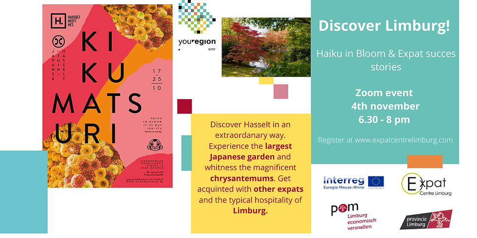 Discover Limburg : Haiku in Bloom festival and expat success stories