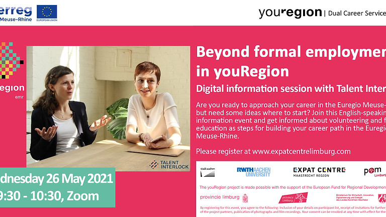 Start your career in youRegion!   Beyond formal employment