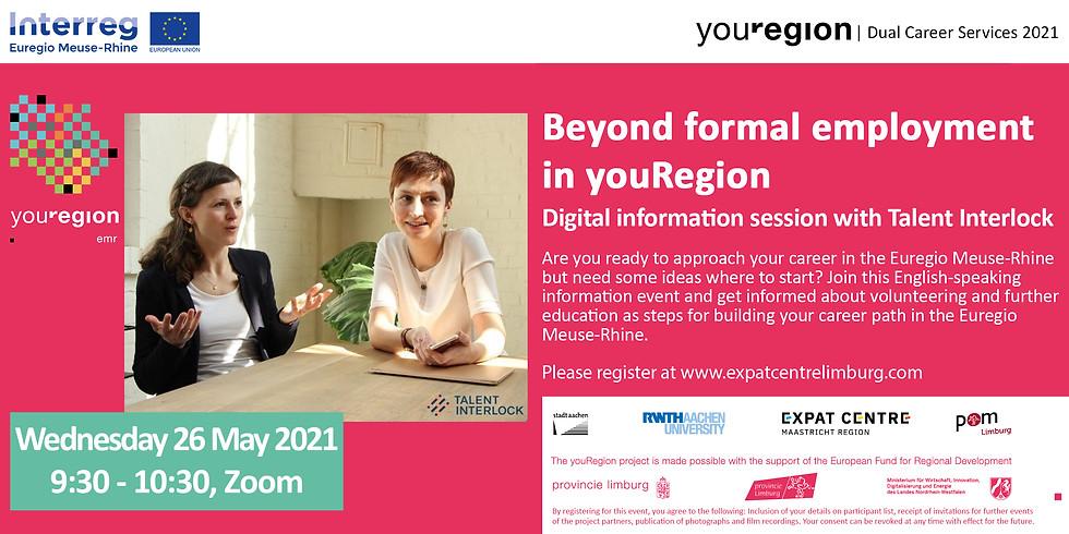 Start your career in youRegion!   Beyond formal employment
