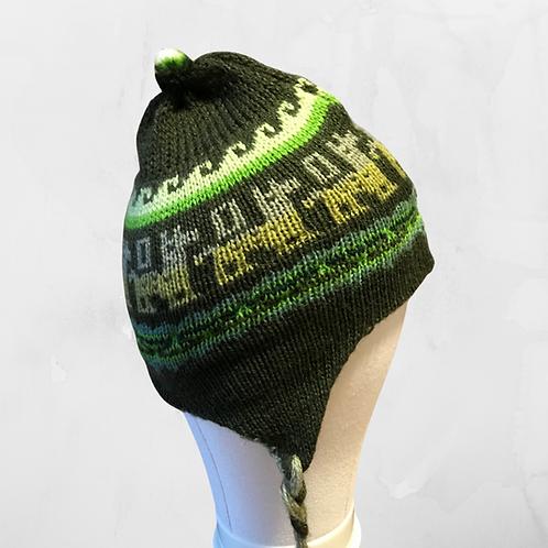 Kids Chullo - Dark Green Hat