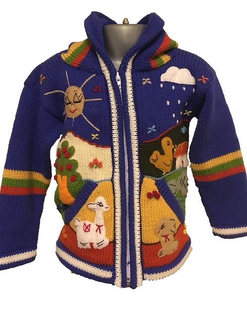 Children's Luxuriously Soft Cardigan - Butterfly Blue