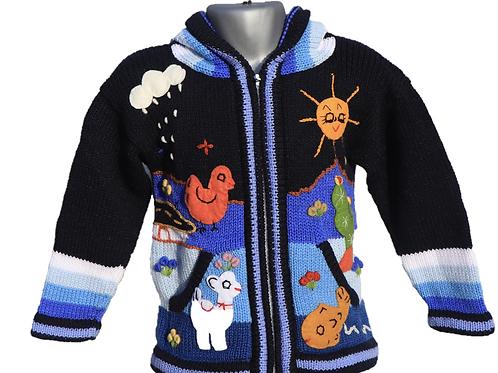 Children's Luxuriously Soft Cardigan - Midnight Blue