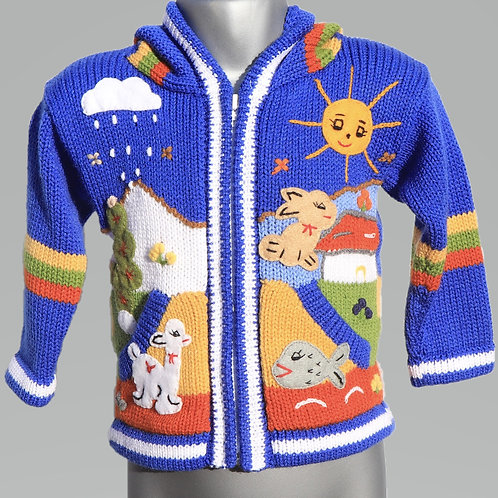 Children's Luxuriously Soft Cardigan - True Blue