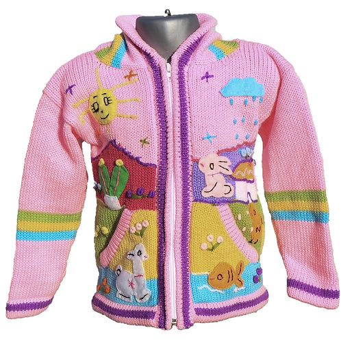 Children's Luxuriously Soft Cardigan - Baby Pink