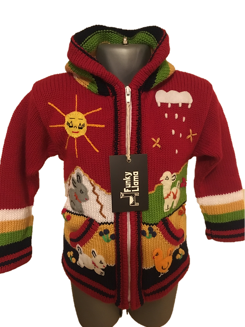 Children's Luxuriously Soft Cardigan - Ruby Red