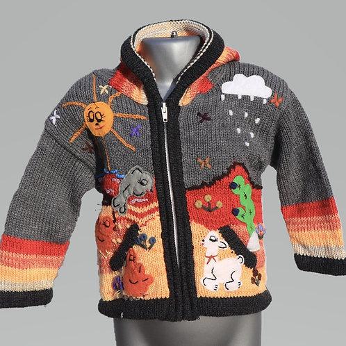 Children's Luxuriously Soft Cardigan -Wallaby Grey