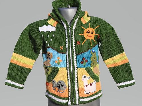 Children's Luxuriously Soft Cardigan - Farmer Green