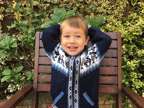 Children's Luxuriously Soft Cardigan - Blue
