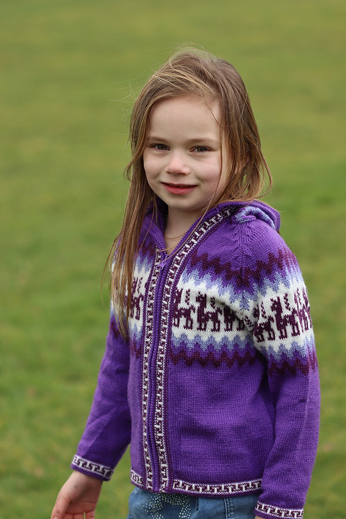 Children's Luxuriously Soft Cardigan - Purple