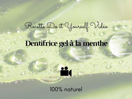 TUTO VIDÉO DIY: Dentifrice gel à la menthe 100% naturel