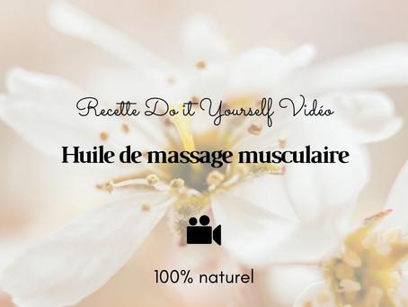 TUTO VIDÉO DIY: Huile de massage musculaire