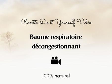 TUTO VIDÉO DIY: Baume respiratoire décongestionnant