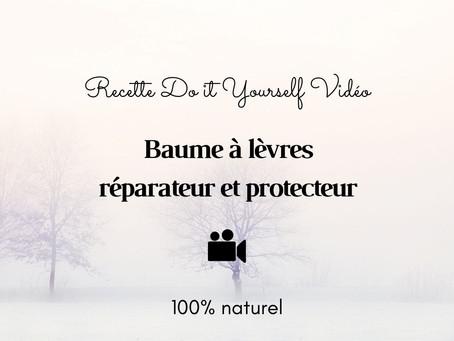 TUTO VIDÉO DIY: Baume à lèvres réparateur et protecteur