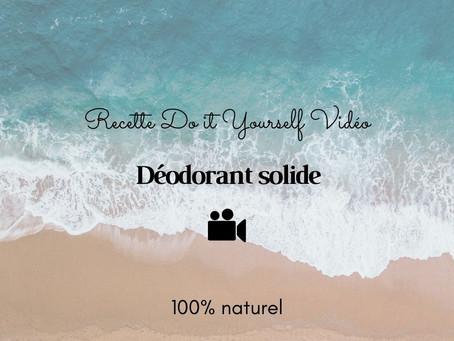TUTO VIDÉO DIY: Déodorant solide 100% naturel