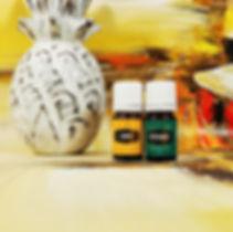 huiles essentielles young living lemon peppermint
