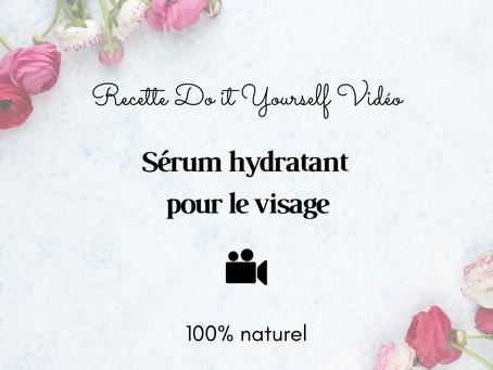 TUTO VIDÉO DIY: Sérum hydratant pour le visage