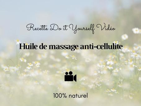 TUTO VIDÉO DIY: Huile de massage anti-cellulite