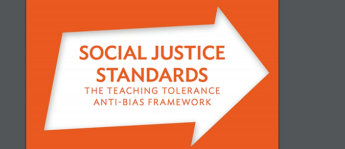 Social Justice Standards from Teaching Tolerance