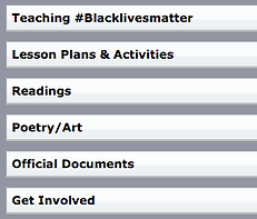 image showing SFUSD resources on Black Lives Matter teaching