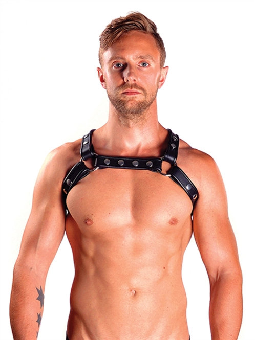 Mister B Leather X-Back Harness Premium Black