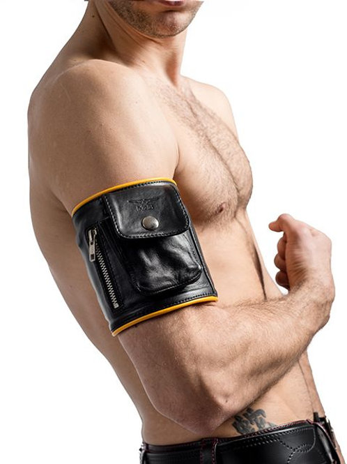 Mister B Leather Party Wallet (Yellow Trim)