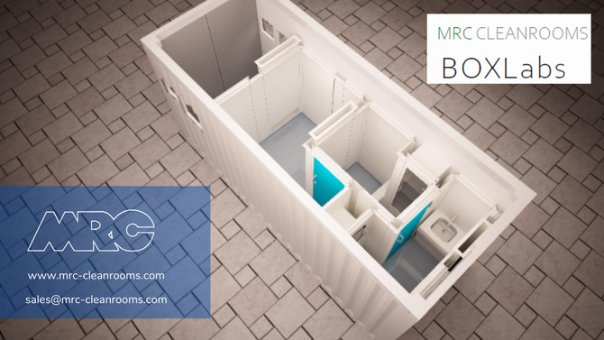 MRC BOXLAB: CONTAINED, PORTABLE AND CUSTOMISABLE CLEANROOM SOLUTION
