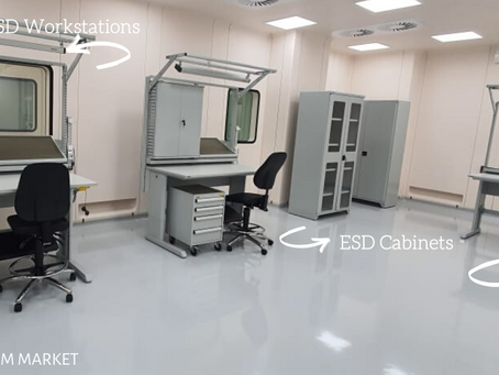 ESD Furniture: Workbenches, Chairs, Cabinets