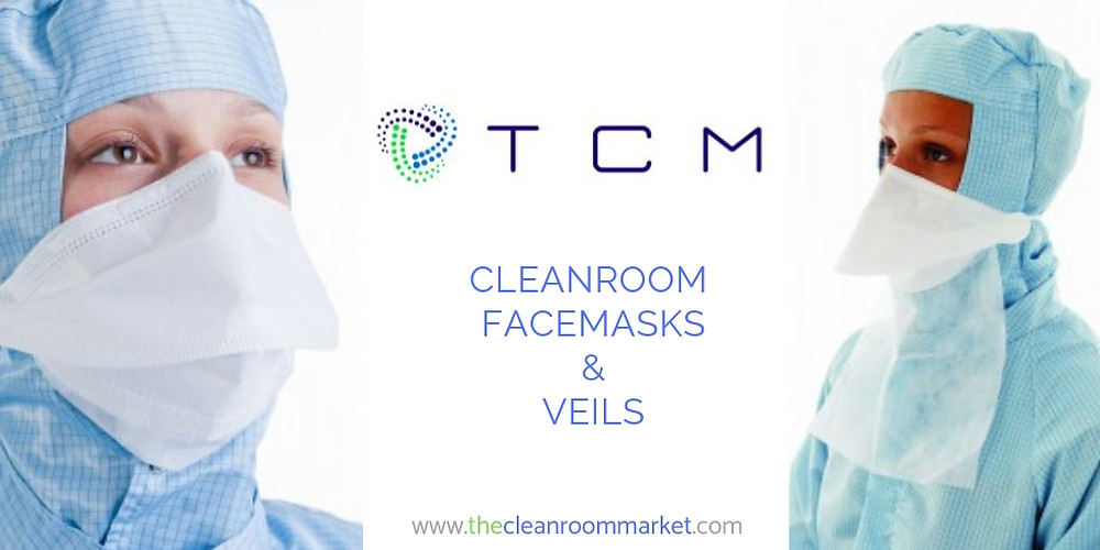 Cleanroom facemasks and veils