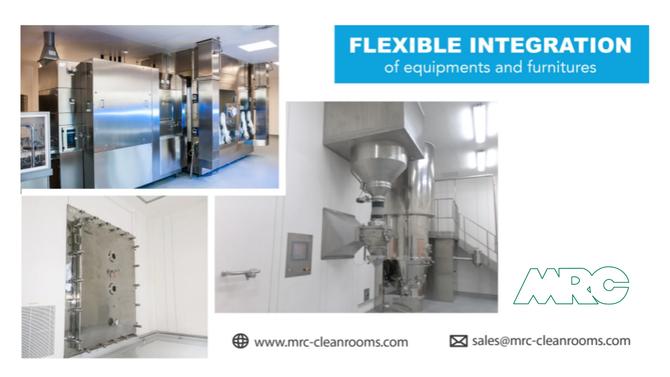 Easy & Flexible Integration of Equipments | MRC Cleanroom Panels