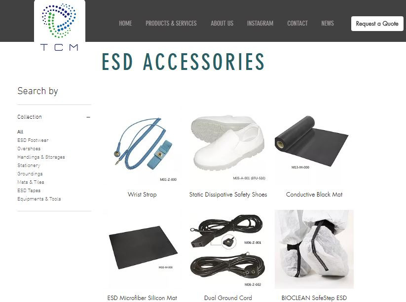ESD Furniture and Accessories from TCM