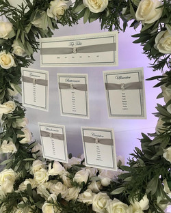 Table plan - Floral Hoop