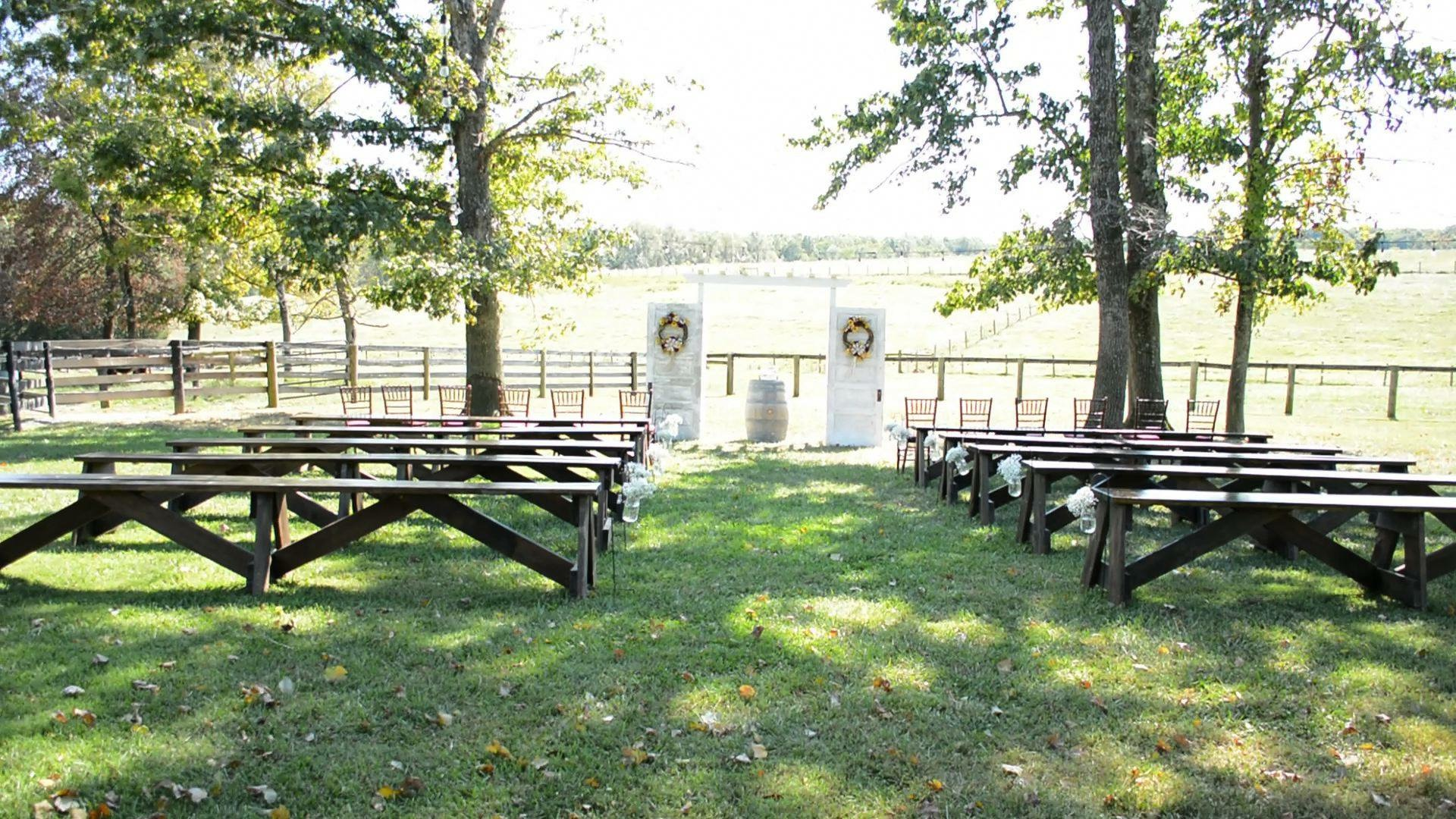 Rustic Benches/Ceremony