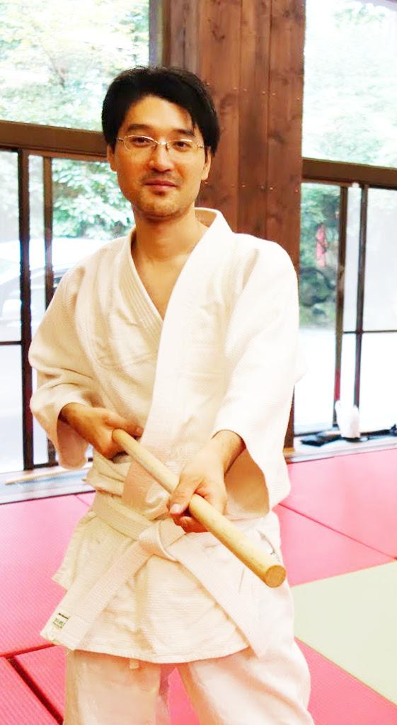 箱根合宿2015年 杖の稽古_@箱根神社武道場
