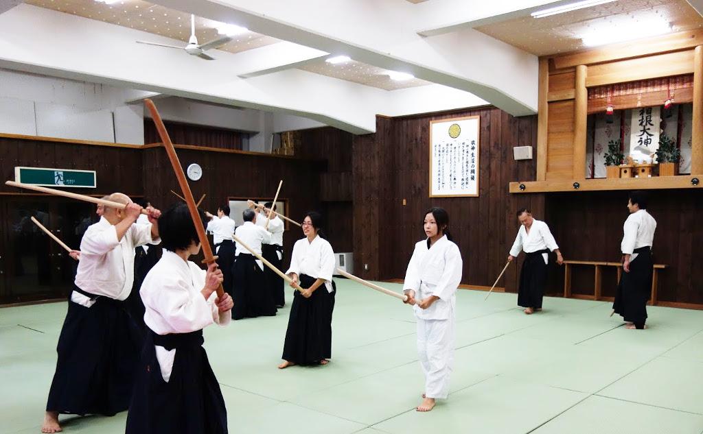 箱根合宿2015年 組大刀の稽古_@箱根神社武道場